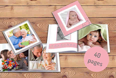 2M Print - 40 Page Personalised Photobook - Save 75%
