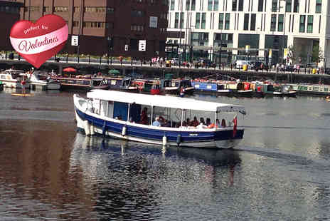 Liverpool Boat Charter - One hour Valentines boat tour of River Mersey for two including chocolates and a glass of bubbly each   - Save 53%