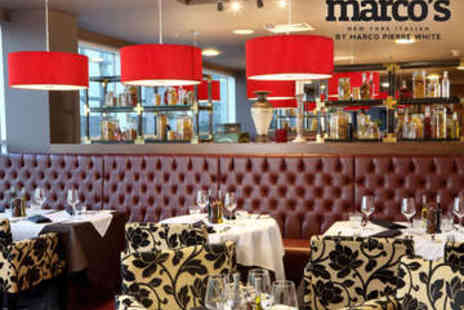 Marcos New York Italian - Two Course Lunch with Prosecco for Two - Save 41%