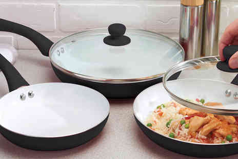 Direct Response Marketing - Ceramic Non Stick 5 piece Pan Set - Save 85%
