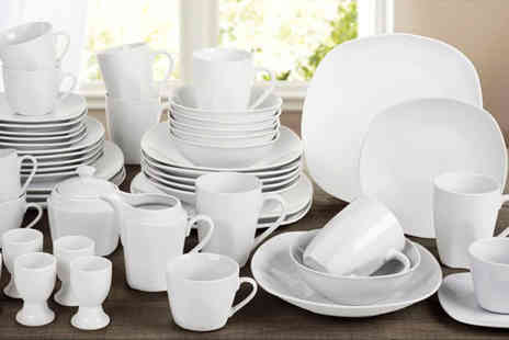 Dinner Warehouse - 50 piece white porcelain dinnerware set - Save 63%