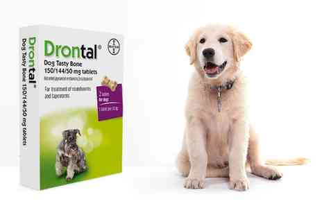 PetShop  - Drontal Plus Flavoured Dog Worming Tablets Pack With Free Delivery   - Save 9%