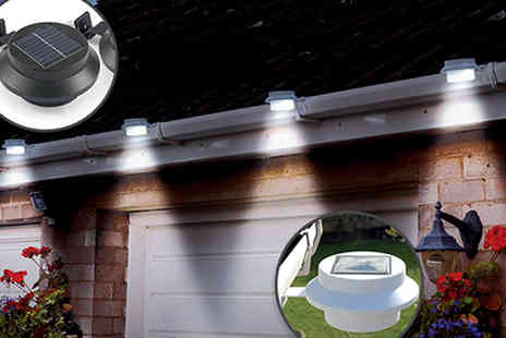 CFS Trading - Two Solar Gutter Lights - Save 44%