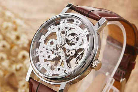 Rose River - Mens Luxury Skeleton Watch - Save 60%