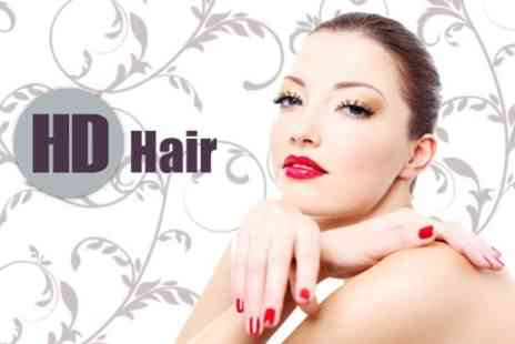 HD Hair - Manicure, Pedicure, Bio Sculpture Gel Overlays and Nail Art With Blow Dry and Conditioning Treatment for £29 - Save 64%