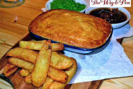 The Wig & Pen - Gourmet Pie and Peas for Two - Save 53%