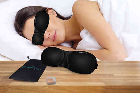 Tag Cone - Eye Echo contour sleep eye mask with ear plugs and a carry case  - Save 80%