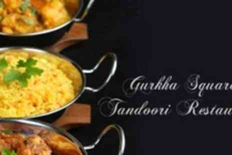 Gurkha Square Tandoori Restaurant - Two Courses of Indian Cuisine With Sides and Wine For Two - Save 61%