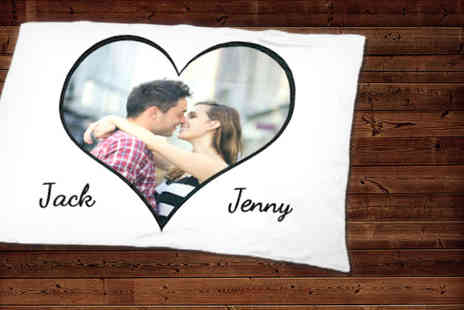 Great Photo Gifts - Small Valentines Day heart photo blanket - Save 50%