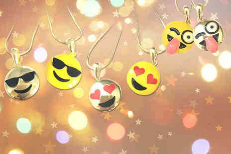 Gray Kingdom - Gold plated or yellow enamel emoji necklace in a choice of seven designs - Save 86%