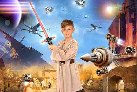 "Picture Perfect by Mario - Star Wars or superhero action themed photoshoot, two 7"" x 5"" prints and a goody bag   - Save 87%"