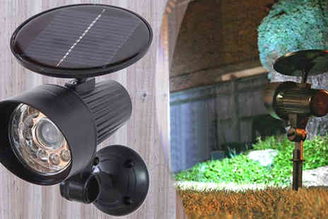 Direct Response Marketing - 2 x PIR Motion Sensor Solar Security Spotlight - Save 29%