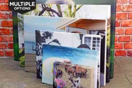 LivingSocial Shop - Personalised Photo Canvas - Save 80%