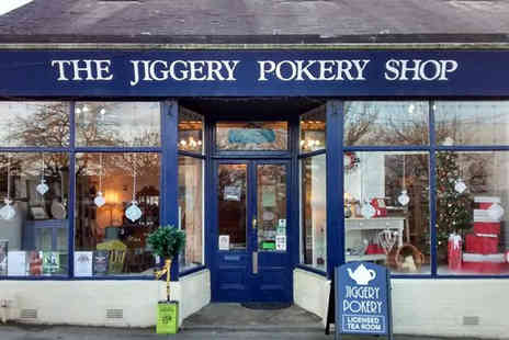 Jiggery Pokery -  Afternoon tea for two including a bottle of Prosecco - Save 51%