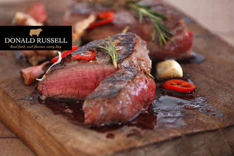 Donald Russell - 20 piece gourmet steak selection box including a sirloin steaks, steak burgers and much more Plus DELIVERY INCLUDED - Save 50%