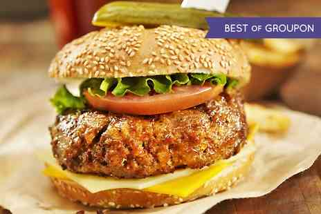 Branded Bar & BBQ - Burger, Chips, Salad and Nachos for Two - Save 56%