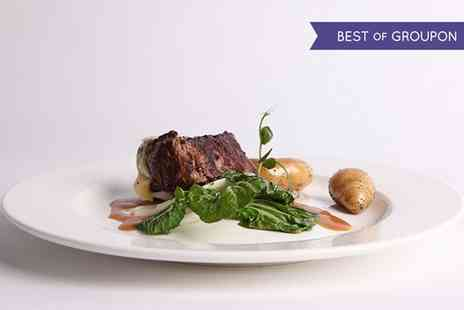 Moorings Restaurant & Champagne Bar - Two Course Meal with Optional Wine for Two or Four - Save 57%