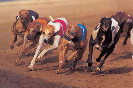 Doncaster Greyhound Stadium - Dog Racing with Hot Dog, Chips, and Beer for Two - Save 63%