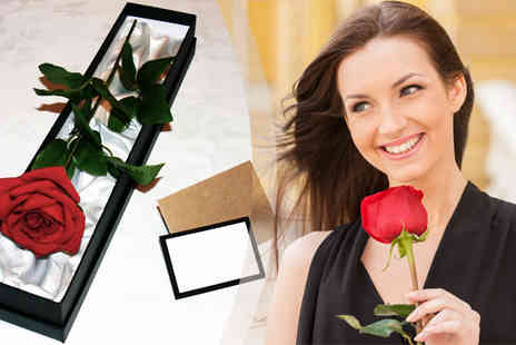 Giftright - Luxury Silk Rose in Gift Box - Save 70%