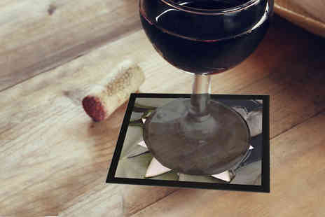 Breathtaking Canvas - Two Personalised Heat Resistant Glass Coasters - Save 30%