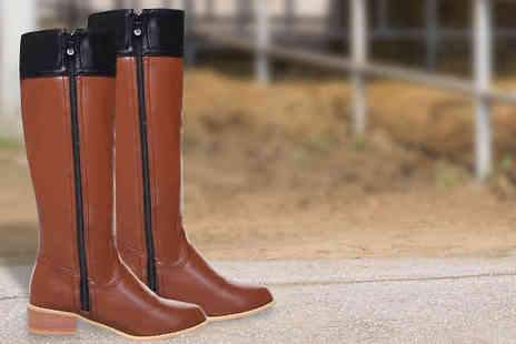 Rose River - Ladies Knee High Horse Riding Boots - Save 43%