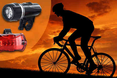 Shop Monk- Two Piece Bicycle LED Lights Set - Save 50%