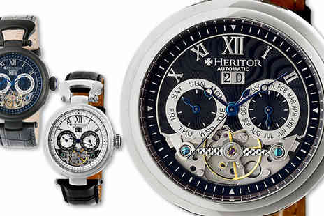 Ideal Deal - Heritor Ganzi Watches Eight Designs - Save 91%