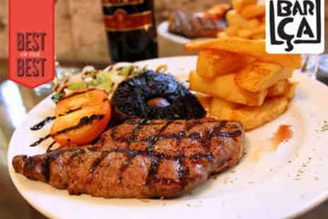 Barca Bar - Steak Meal with Bottle of Wine for Two - Save 60%