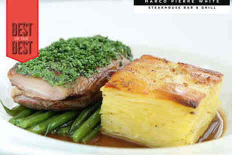 Marco Pierre White Steakhouse Bar & Grill - Three Course Dinner - Save 40%
