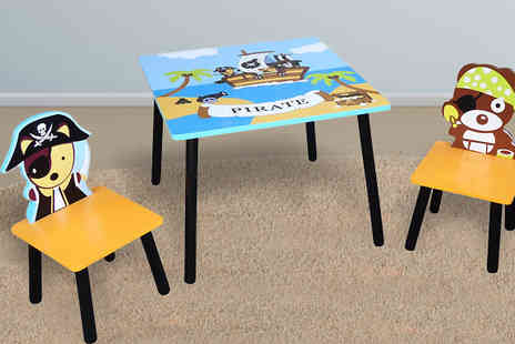 HomeStore Direct - Pirate Themed Table And Chairs Set - Save 43%