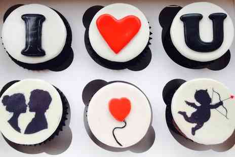 The Toffee Nosed Cake Company - Six Gift Boxed Valentines Cupcakes with a Personalised Card - Save 0%