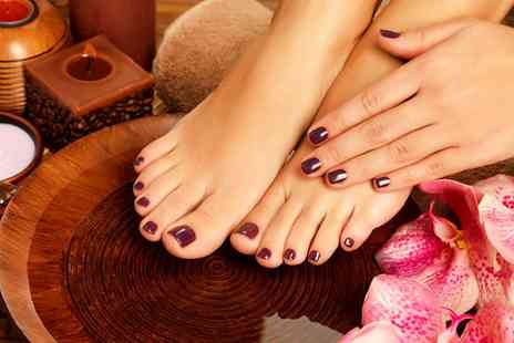 aquagem beauty salon - Shellac Polish on Fingers, Toes or Both - Save 55%