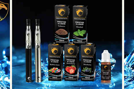 Prestige Vaping - E Cigarette Starter Kit with 5 E Liquids - Save 48%