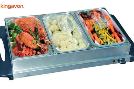 CE Stevenson Motors - Kingavon Stainless Steel Buffet Server and Warming Tray - Save 50%