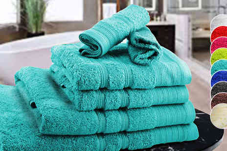 Z & U Online  - Six Piece Egyptian Cotton Towel Set - Save 83%