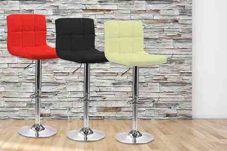 NeoDirect  - One chrome plated faux leather bar stool  - Save 66%