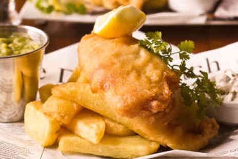 The Old Ham Tree - Fish and Chips with Wine or Beer for Two - Save 47%