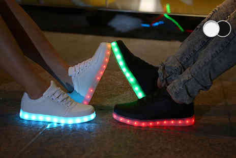 BritishGoody - Pair of light up LED trainers - Save 75%