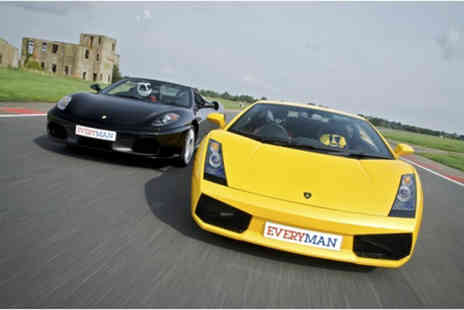 Everyman Racing - Supercar driving experience and photo for one  - Save 0%