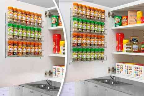 Neodirect - Three tier chrome spice rack - Save 59%
