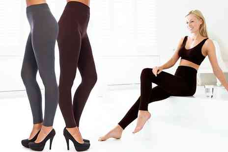 Groupon Goods Global GmbH - Fleece Lined Leggings in Choice of Colour - Save 79%