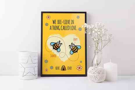 UK Sign Shop - Personalised Valentines Prints - Save 74%