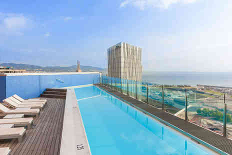 Barcelona Princess Hotel - Rooftop Pool Pleasure 50m from Beach, Two nights Stay in a Double Room with a View - Save 67%