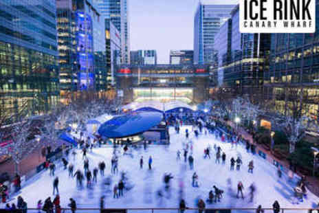 Ice Rink Canary Wharf - Ice Skating with Skate Hire - Save 43%