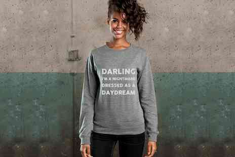 Treats on Trend - Personalised Lyric Sweater  - Save 66%