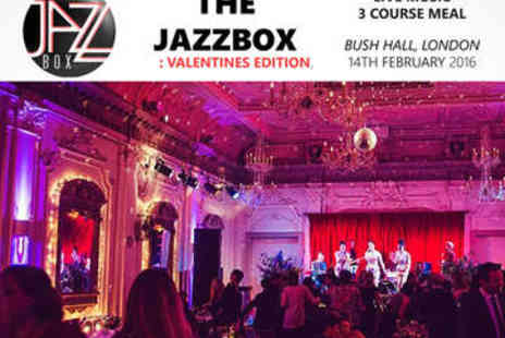 The JazzBox - Three Course Valentines Meal Plus  Live Performances - Save 0%
