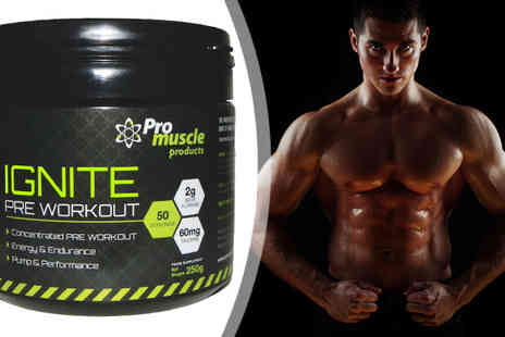 Pro Muscle Products Supplements  - 50 Servings of ProMuscle Ignite Pre Workout - Save 60%