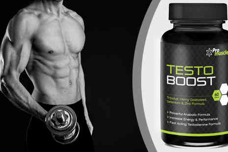 Pro Muscle Products Supplements  - 90 Capsules of Promuscle Power UP XT Premium Testosterone Booster - Save 73%