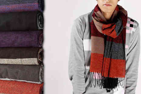 Richardson Group - Mens Cashmere Winter Scarf Choice of Six Colours - Save 50%