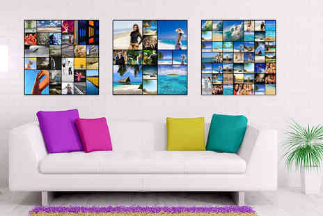 "Discount Photo Prints -  10"" x 10"" collage canvas print  - Save 90%"